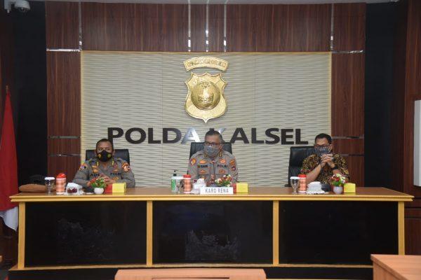 PUSLITBANG POLRI Sambangi Polda Kalsel Meneliti Efektivitas Implementasi SOTK Pusinafis Reskrim di Kewilayahan