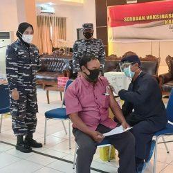 DIGENCARKAN Vaksin Covid-19 Tahap Dua di Markas Komando TNI AL-Lanal Banjarmasin