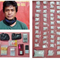 PENGGELEDAHAN Disita 58 Paket Sabu di Lemari Buku, Kasur dan Rak Piring