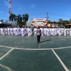 UJIAN Beladiri Diikuti 86 Personel Polresta Banjarmasin