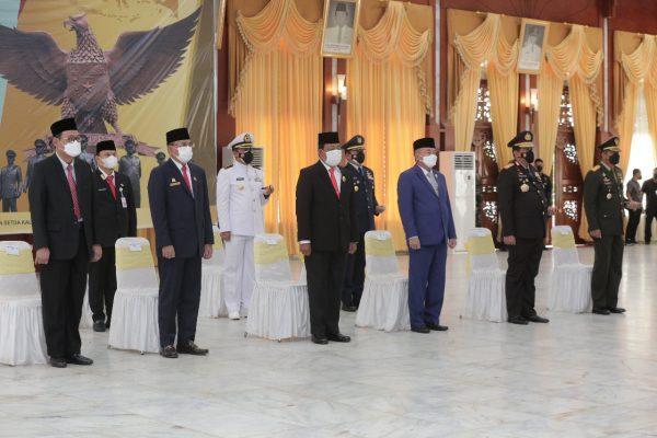 UPACARA Peringatan Kesaktian Pancasila Diikuti Gubernur Kalsel dari Gedung Mahligai