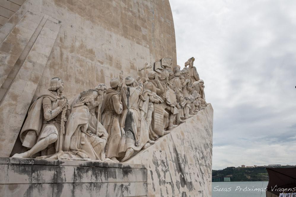 Close do Padrão dos Descobrimentos em Lisboa Portugal