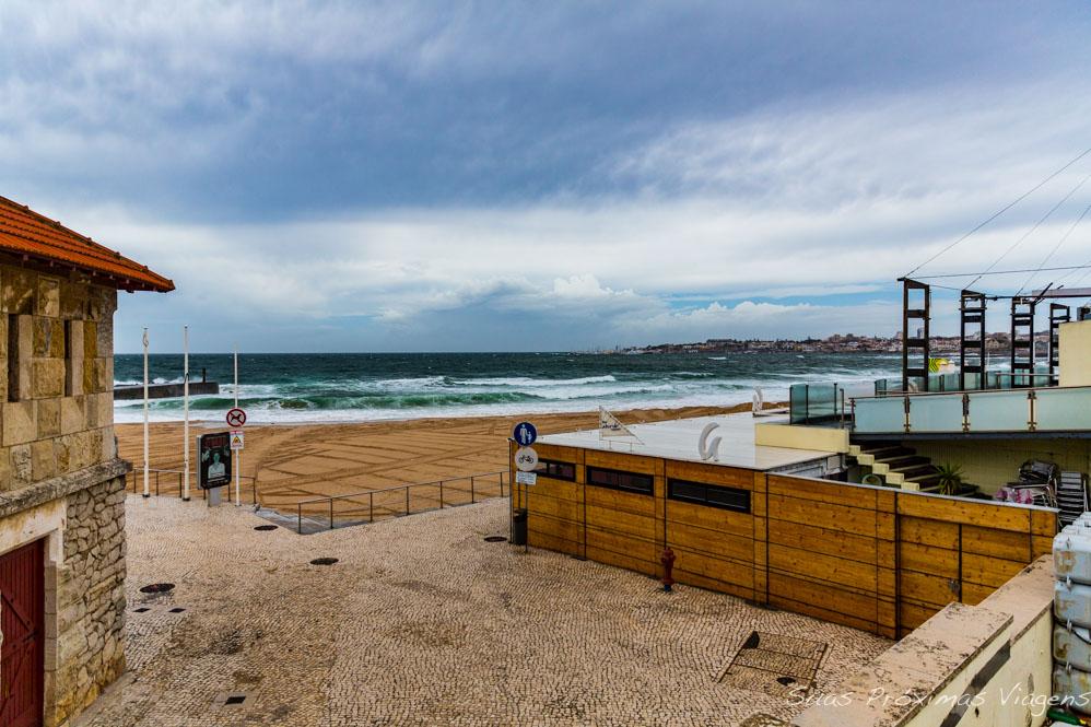 Praia de Tamariz em Portugal