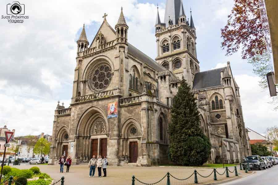 Vista da Notre Dame de Reims