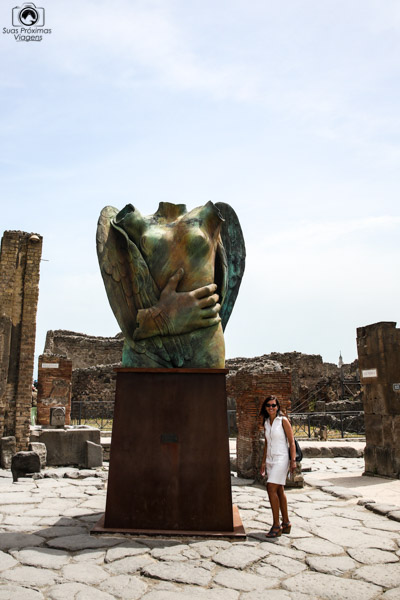 Imagem de Escultura em Bronze nas ruínas de Pompéia
