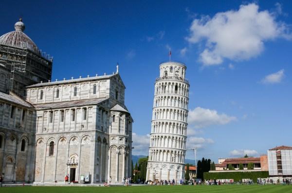 Torre de Pisa na Região da Toscana
