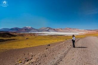 Chegando à Piedras Rojas no Roteiro do Atacama