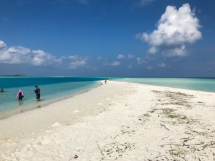 Um pequeno atol nas Maldivas