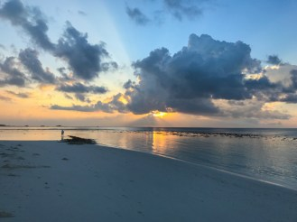 Pôr do Sol Maldivas sensacional