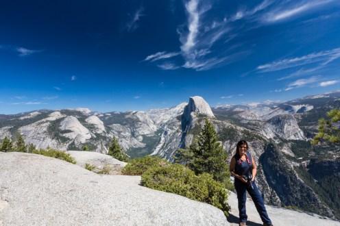 Vista do Half Dome no Parque Nacional de Yosemite