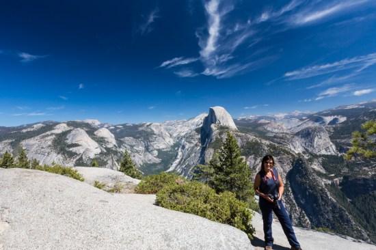 Vista do Half Dome no Parque Nacional Yosemite