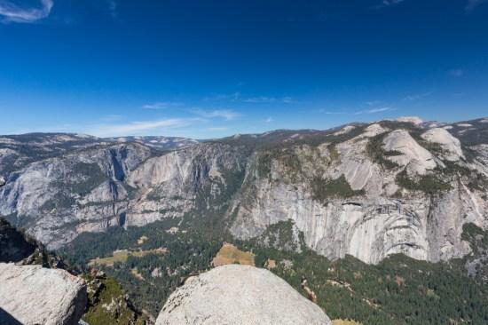 Vista do Glacier Point no Parque Nacional Yosemite