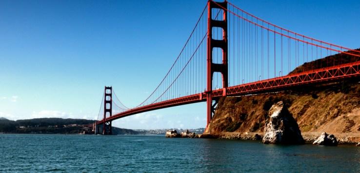 A famosa Golden Gate em San Francisco