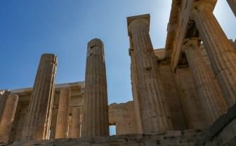 Colunas do Parthenon em Acrópole