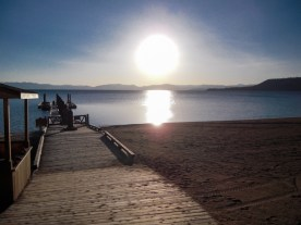 Pôr do sol no lago