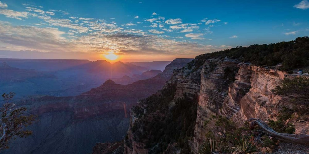 Yavapai Point Sunrise no Parque Grand Canyon