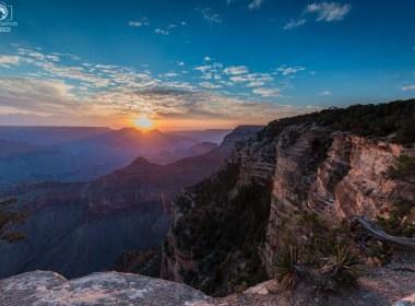 Yavapai Point Sunrise no Parque Grand Canyon