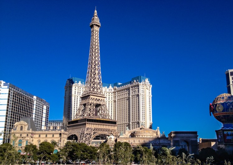 Vista do Hotel Paris em Las Vegas