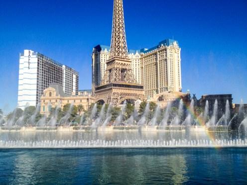 Fontes do Bellagio no artigo Comer em Las Vegas