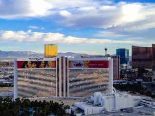 Vista do Hotel Mirage em Las Vegas