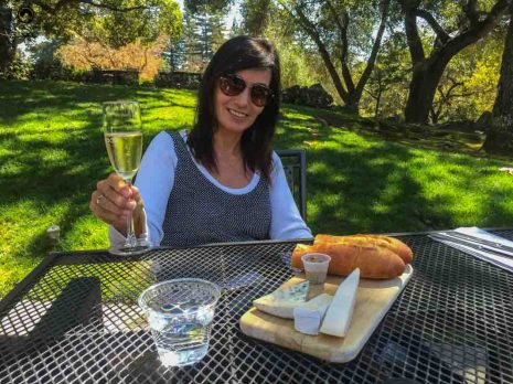 Degustação na Chandon em Napa Valley