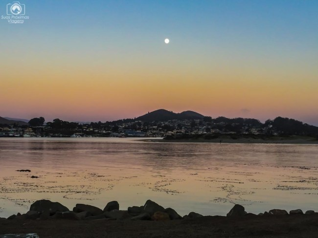 Pôr do Sol em Morro Bay na Costa da Califórnia