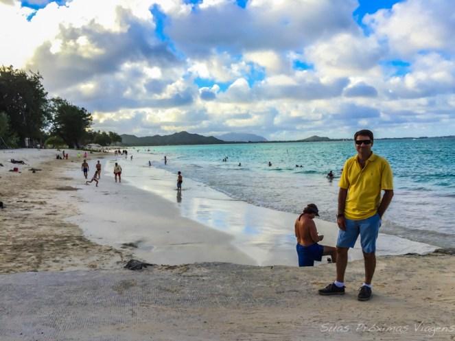 Praia Kailua em Oahu