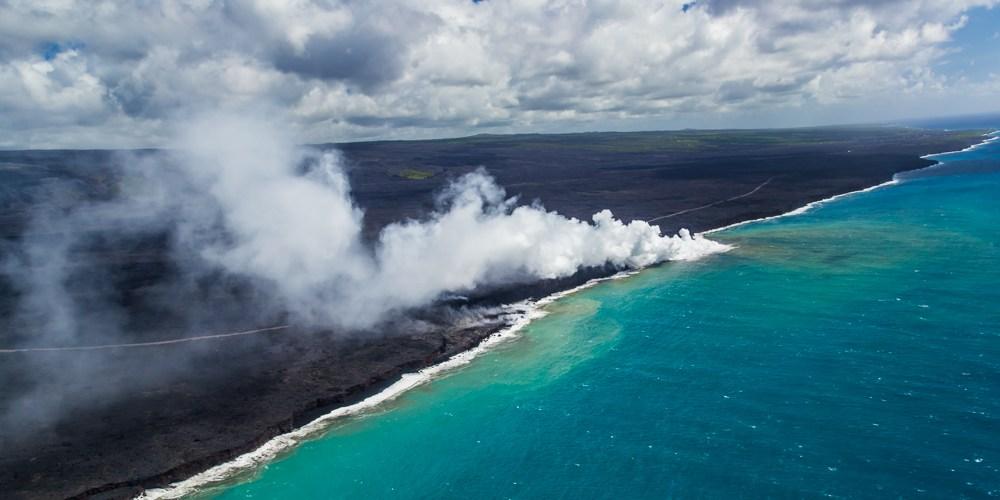 Sobrevoando a Ilha do Havaí