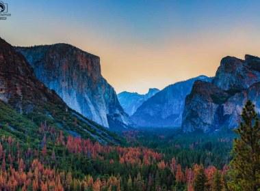 El Capitan em Yosemite nos Parques Nacionais Americanos