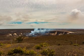 Vista da Cratera do Kilauea no Havaí