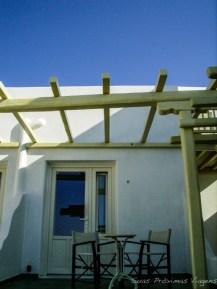 Entrada da Suite no Pelican em Mykonos