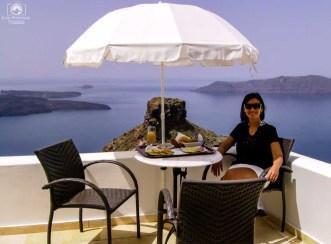 Café da Manhã Hotel Tholos em Santorini