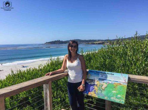 Praia de Carmel na Big Sur