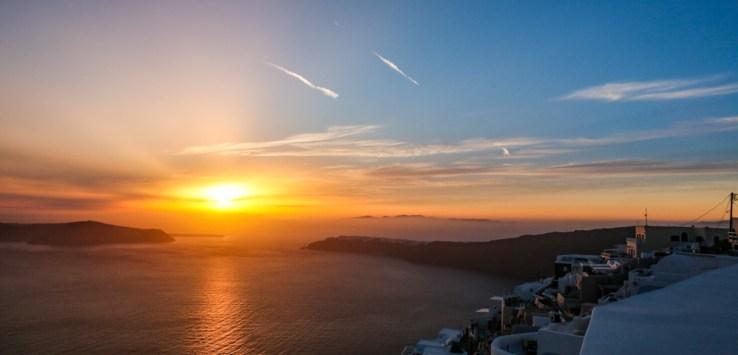 Pôr do Sol em Imerovigli - Santorini