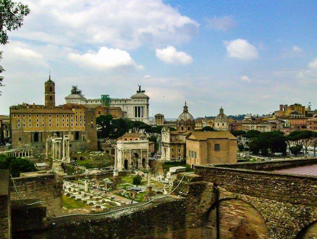 Imagem das Ruínas de Roma Itália