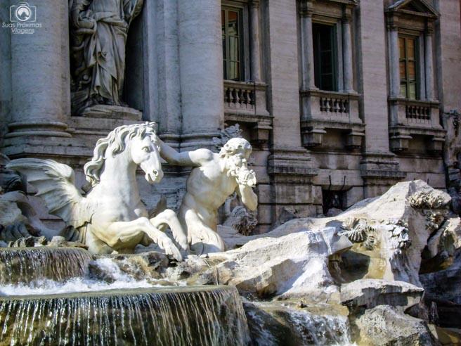 Imagem do Cavalo Alado da Fontana de Trevi em o que fazer em Roma Itália
