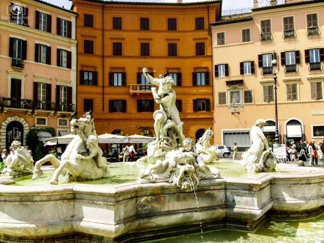 Piazza Navona em Roma Itália