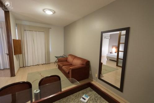 Antesala da suite no Mercure em Joinville