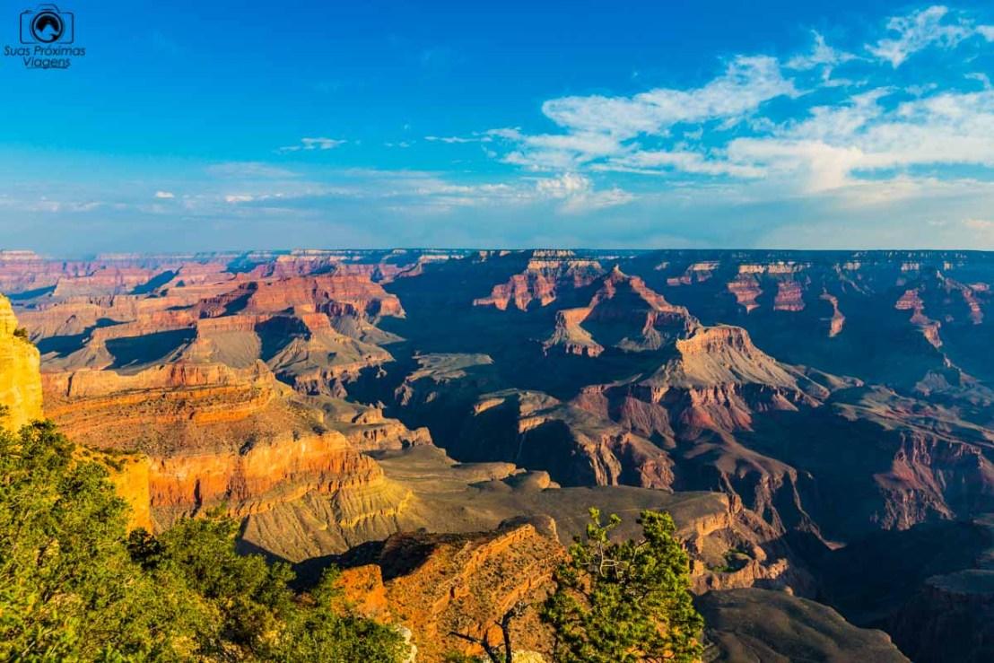 Vista do Yavapai Point no Grand Canyon, um dos Parques Nacionais