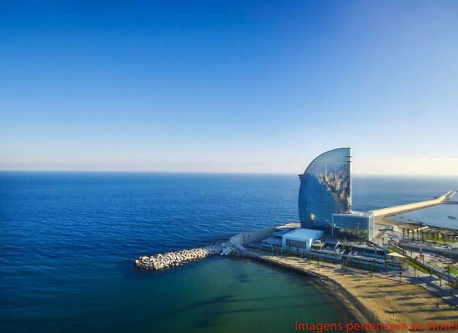 Vista Externa do Hotel W em Onde se hospedar em Barcelona