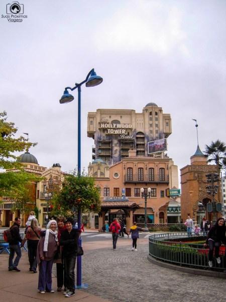Hollywood Tower na Disneyland Paris