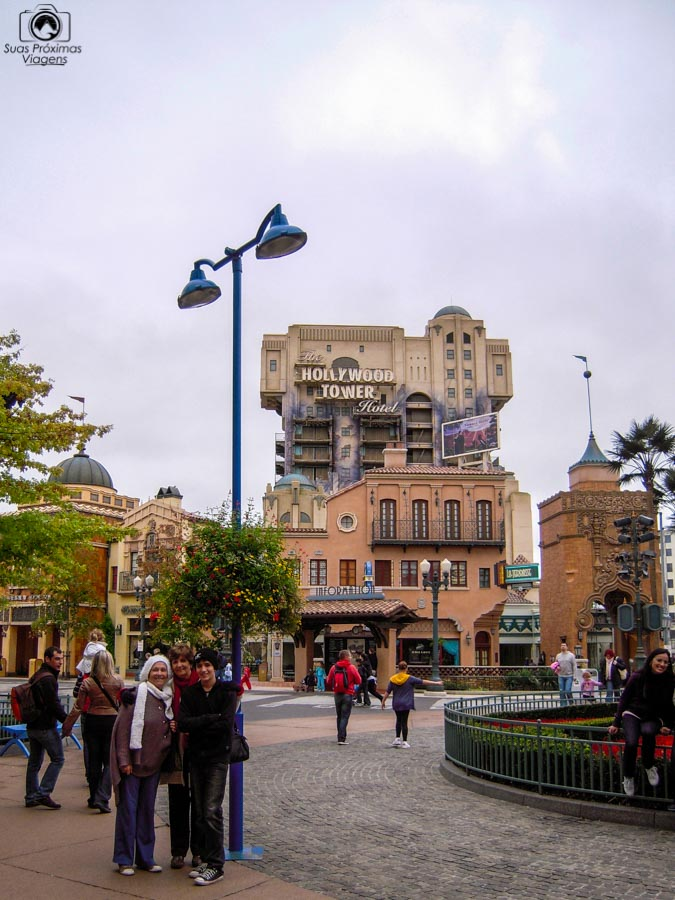Hollywood Tower na Disneyland Paris