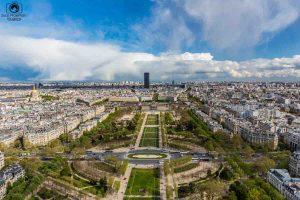 Vista do Campo de Marte desde a Torre em o que fazer em Paris