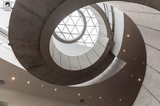 Escada Interna do Dali Museum em o que fazer em Tampa