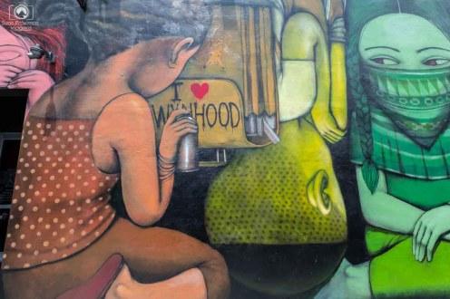 Painel Externo a exposição do Wynwood Walls