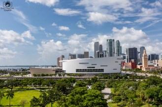 Vista do Museum Park em Miami Florida