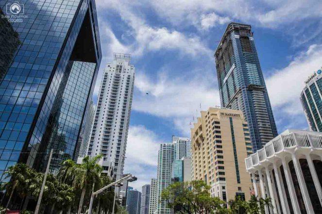 Prédios da Brickell em lugares para visitar em Miami