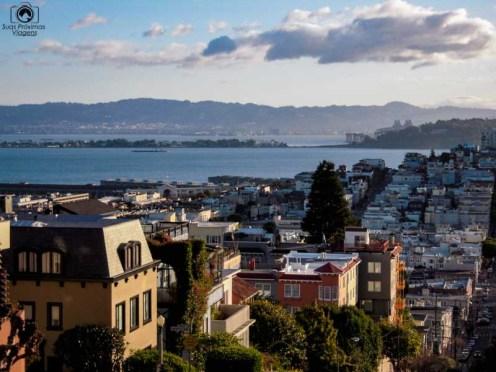Vista desde a Lombardi Street Nas Melhores dicas de San Francisco