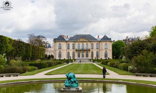 Jardins atrás do Museu Rodin em Roteiro de 5 dias em Paris