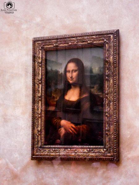 Mona Lisa de Da Vinci em Pontos Turísticos de Paris